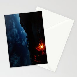 Backpacking Fire Stationery Cards