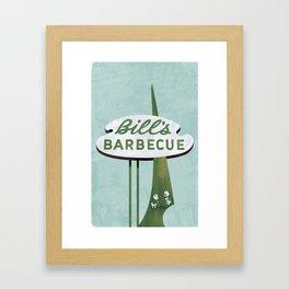 Bill's Barbecue Framed Art Print
