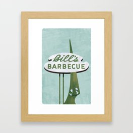 Bill's Barbecue Framed Art Print