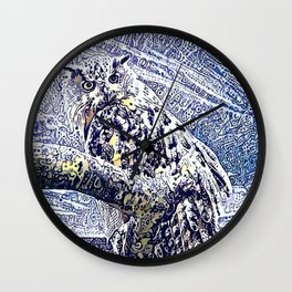Moonlight and Frost Wall Clock