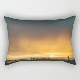 Grand Haven Beach Sunset Rectangular Pillow