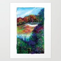 Bow Bridge of Central Park, NYC Art Print