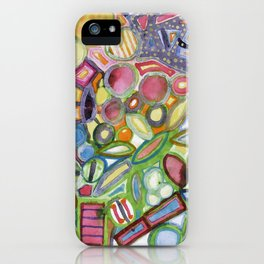 Cheerful Colorful Collection iPhone Case