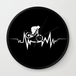 Mountain Biking Heartbeat For Bike Lovers Wall Clock