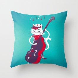 Double Bass Throw Pillow