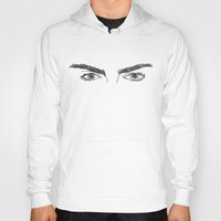 cactei Hoodies featuring Cara Brows by ☿ cactei ☿