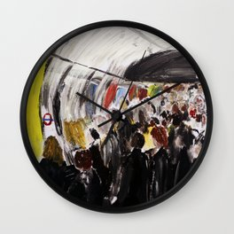 London Underground Subway Going To Work Part 2 Wall Clock