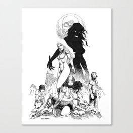 Island of the Vampire Witches Canvas Print