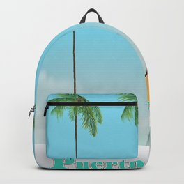 Puerto Vallarta Mexico travel poster art. Backpack