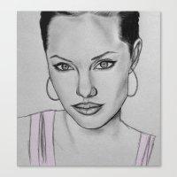 angelina jolie Canvas Prints featuring Angelina Jolie by CBDB