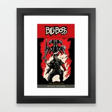 Hellboss Comic Cover Framed Art Print