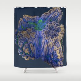 Mean Coral Shower Curtain