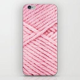 Pink Yarn iPhone Skin