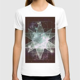 Galaxy Sacred Geometry : Stellated Icoshadron dark T-shirt