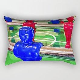 Figures of a foosball table Rectangular Pillow