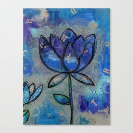 Abstract - Lotus flower - Intuitive Canvas Print