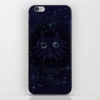 majoras mask iPhone & iPod Skins featuring Majora's mask galaxy by Pocketmoon designs