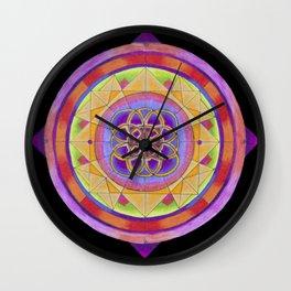 Phractured Phractal Mandala Wall Clock