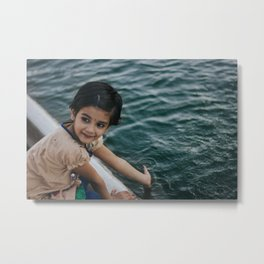 Girl in Jama Masjid Metal Print