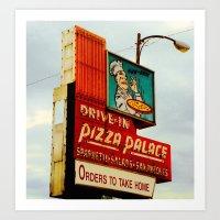 pizza Art Prints featuring Pizza by Hazel Bellhop