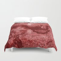 russia Duvet Covers featuring Russia in Red by Jeffrey J. Irwin