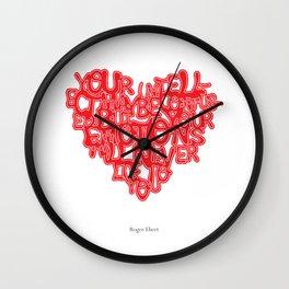 Roger Ebert Quote Wall Clock