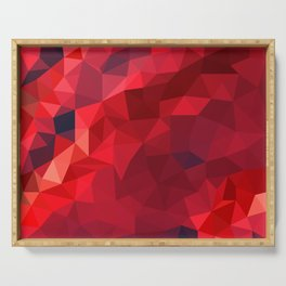 Ruby Red Low Poly Serving Tray