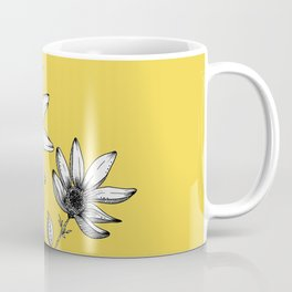 Wildflower line drawing | Botanical Art Coffee Mug