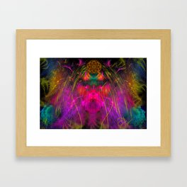 Abstract Angel Face Framed Art Print