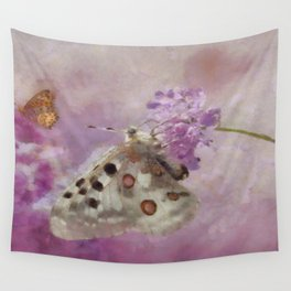Butterflies on Lilacs Wall Tapestry
