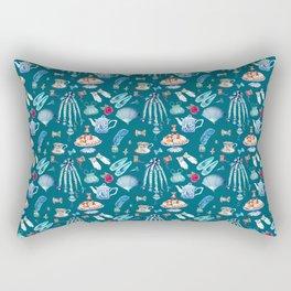 what would jane do, Jane Austen Quote, watercolor Jane Austen art Rectangular Pillow