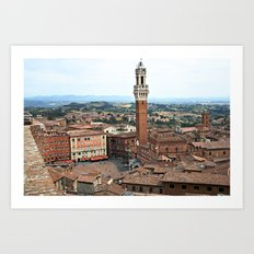 Siena, Italy from Above Art Print