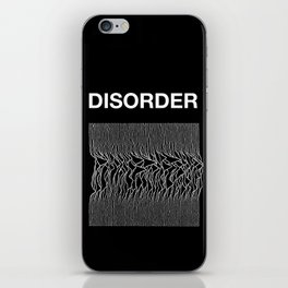 Disorder. A Joy Division/Peter Saville tribute. iPhone Skin