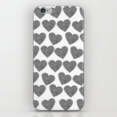 silver heart-10 iPhone & iPod Skin