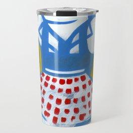"Miss Snapper (2010), 17"" x 27"", acrylic on gesso on chipboard Travel Mug"