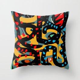 Energy Flow Abstract Art Life Throw Pillow
