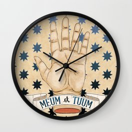 Mine and Thine Wall Clock