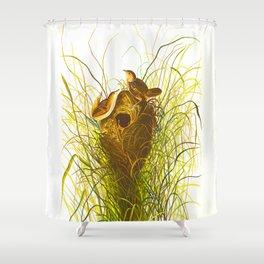 Nuttall's lesser-marsh Wren Shower Curtain