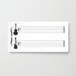 Guitar Music Metal Print