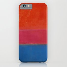 No. 1 (Royal Red and Blue) - Mark Rothko iPhone Case