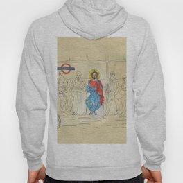 Jesus on the Tube, He is among us Hoody