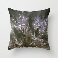glitter Throw Pillows featuring glitter by Bonnie Jakobsen-Martin