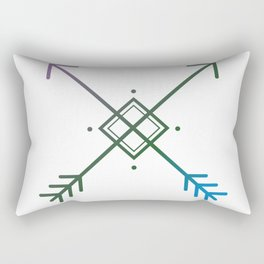 Cross Arrows Rectangular Pillow