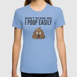 Don't Scare Me Poop Halloween Design T-shirt