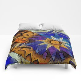 Tribal Sun Abstract Comforters