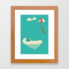 Parasailing Framed Art Print