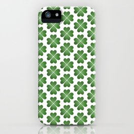 Hearts Clover Pattern iPhone Case