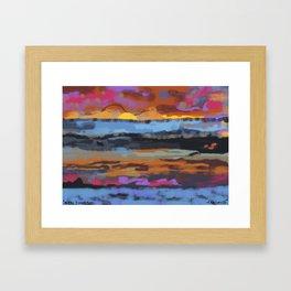 mello sunset Framed Art Print