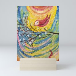 MaruiKaze to AkaiTori | Yuko Nagamori Mini Art Print