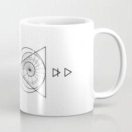 Espiral Triangle White Coffee Mug